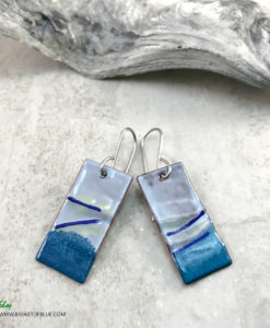 blue wave earrings
