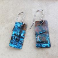 blue patina earrings