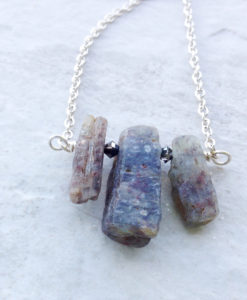 Chunky Rustic Kyanite Stone Necklace