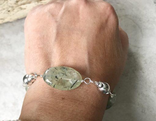 prehnite bracelet