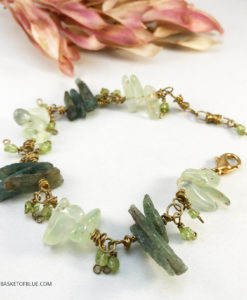 Green Kyanite and Prehnite bracelet