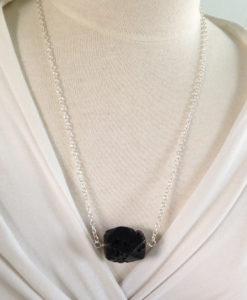 Blackstone Drop Necklace