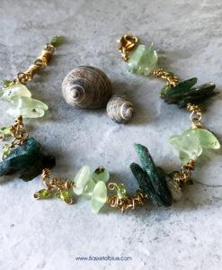 Green Kyanite Stick Bead Bracelet