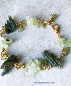 Green Kyanite Stick Bead Bracelet
