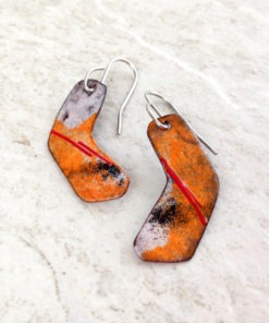 Enameled Copper Stylized Hockey Stick