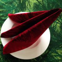 MARIMEKKO red fabric napkins