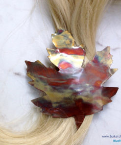 Maple Leaf Copper Barrette
