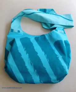 Marimekko Fabric Turquoise Blue Hobo Slouch Shoulder Bag