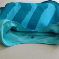 Marimekko Fabric Turquoise Blue Hobo Slouch Shoulder Bag