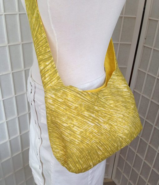 Linen Yellow Marimekko Villisika Hobo Shoulder Bag