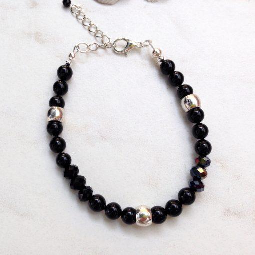 Black Bead Bracelet