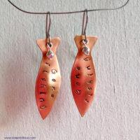 Copper Fish Gone Fishing Earrings
