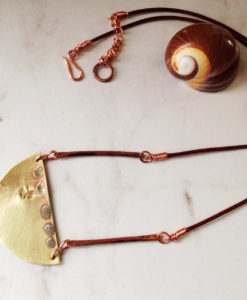 Brass Moon Necklace