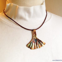 ginkgo leaf copper jewelry set
