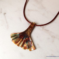 ginkgo leaf copper jewelry set - ginkgo leaf necklace