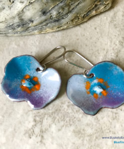 Blue Poppy Earrings