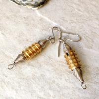 Brass Hardware Industrial Earrings
