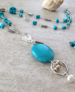 Blue Long Turquoise Necklace