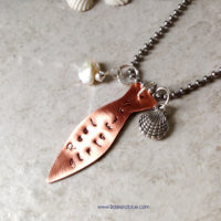 Fish Charm Necklace Reel Girls Fish