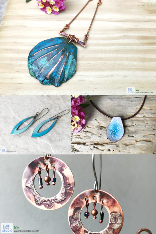 samples of copper jewelry