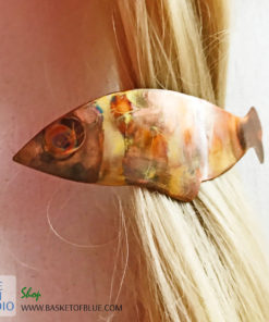 Copper Fish Barrette -Flame painted