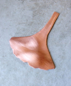 Copper Ginkgo Leaf Blank