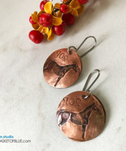 Horse Coin Earrings