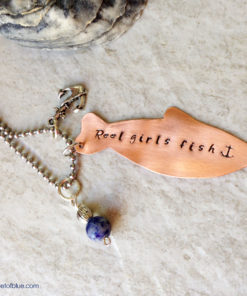 Reel Girls Fish Charm Necklace