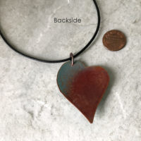 Enamel Heart Necklace - Light blue Crumble