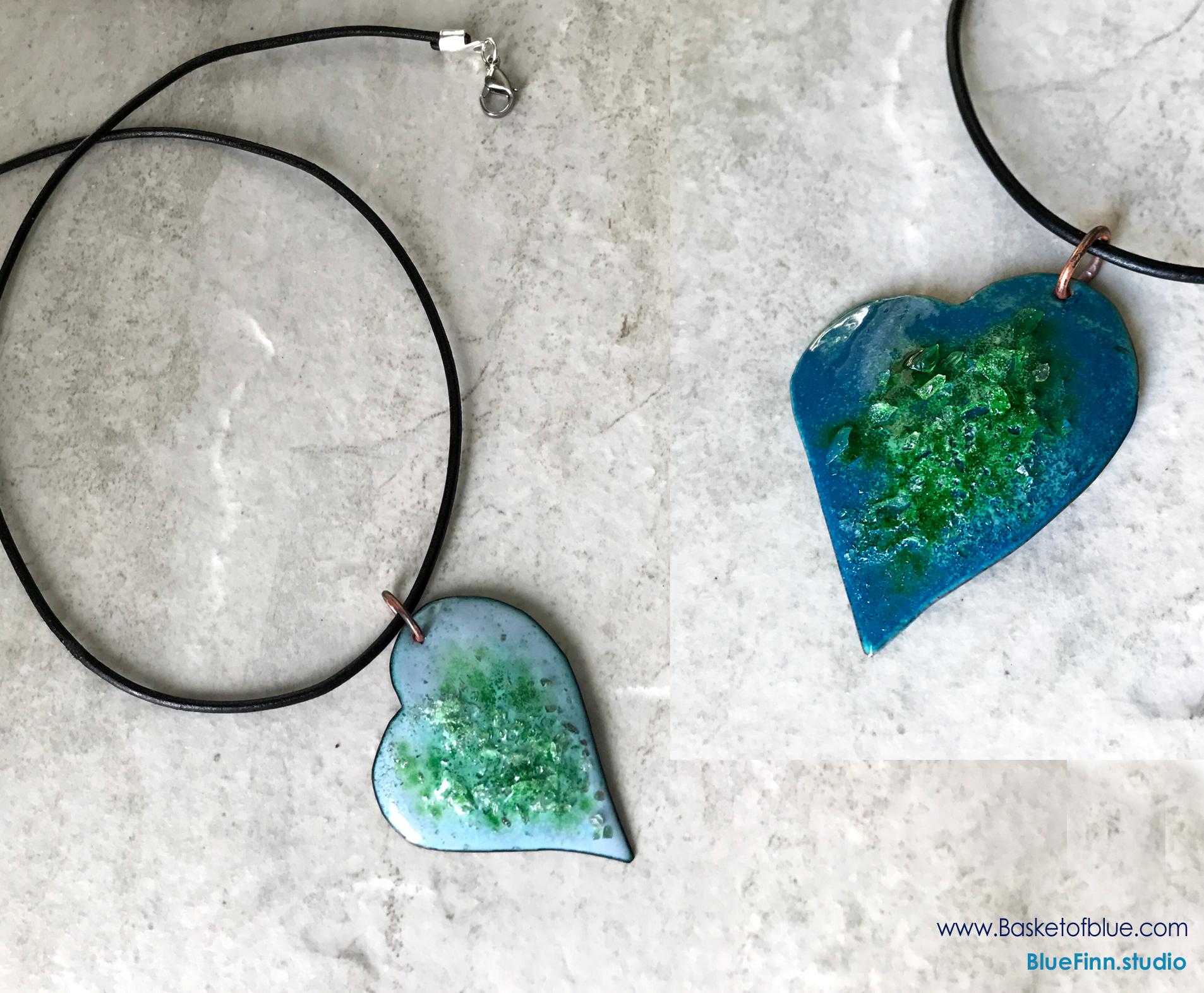 Enamel Heart Necklace