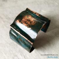 Blue Patina Fold Cuff