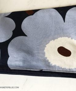 Marimekko Blue Poppy Pouch Pencil Make up Bag