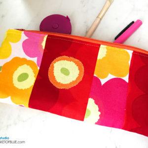 Marimekko Zipper Pouch Patchwork Poppy Pencil Case