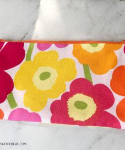 Marimekko Poppy fabric zipper pouch