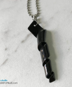 Black twist necklace