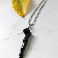 Black twist necklace