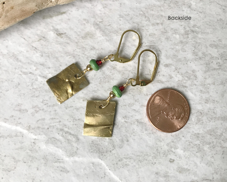 brass dangle earrings