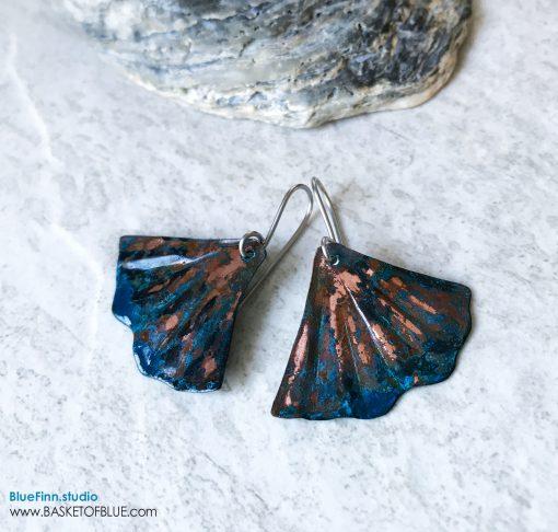 Blue Patina Mermaid Earrings