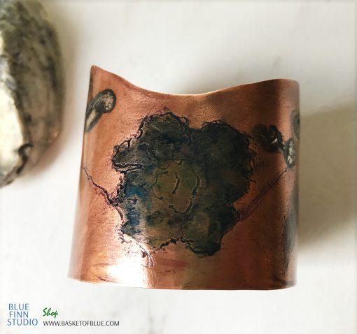 Copper Poppy Cuff