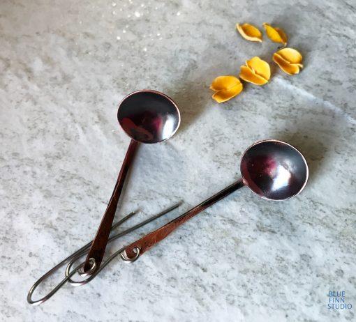 "Copper ladle ""kuuppa"" earrings"
