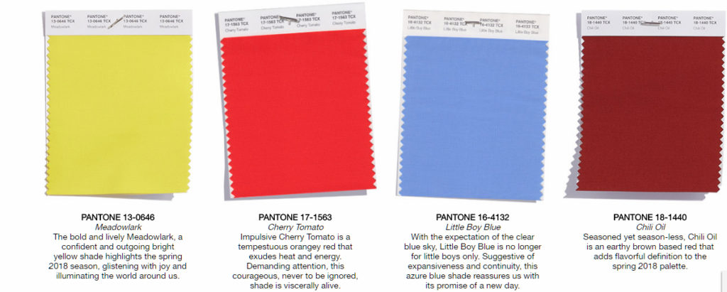 pantone colors of the year 2018 color trends