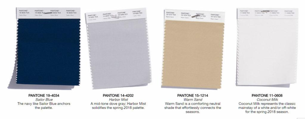 classic color palette 2018