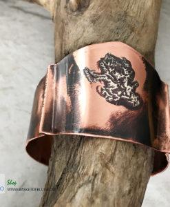 mixed metal artisan viking cuff bracelet