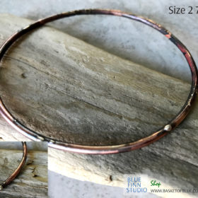 mixed metal bangle bracelet