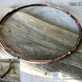 mixed metal bangle bracelet