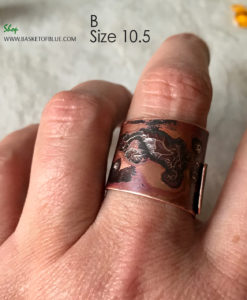 mixed metal wrap ring