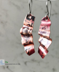 mixed metal northern lights earrings