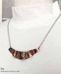 mixed metal copper northern lights necklace