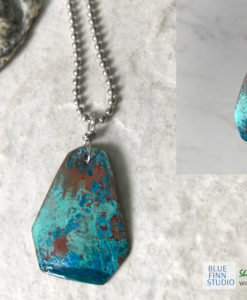 blue patina necklace