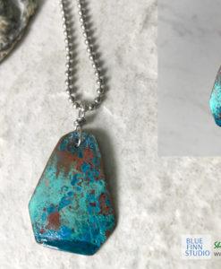 blue patina necklace